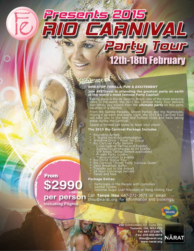 Travel tours to Rio Carnival Rio de Janeiro, Brazil