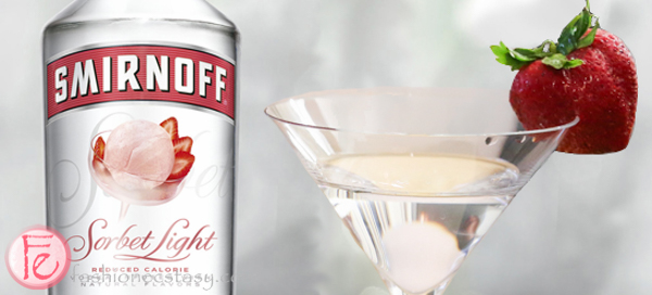 Smirnoff Sorbet Summer Strawberry martini