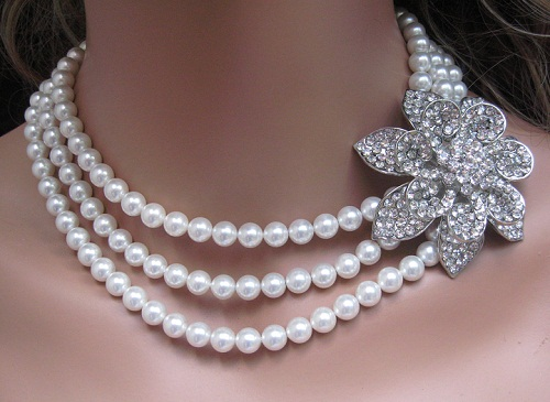 Pearl Necklace Jewelry Designs 2014 For Women
