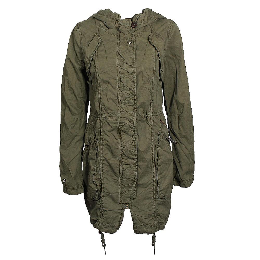 9adb1d4b771446 Khujo Ferna Damen Parka oliv online bei Mode Freund Fashion Marken Shop ab  50€ Versandkostenfrei