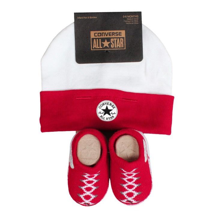 Converse Baby 2-er Geschenk-Set Mütze Söckchen