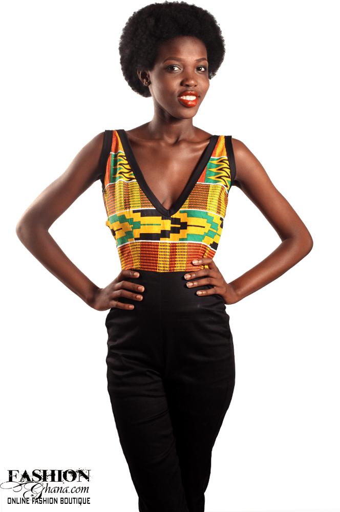 African Print Kente Jump Suit
