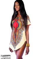 Dashiki / Angelina Print T-Shirt Dress
