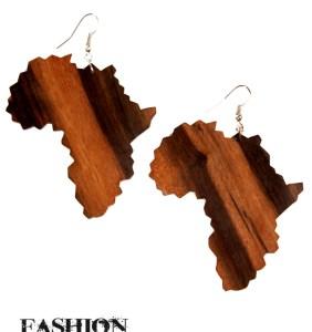 Wooden Africa Earrings