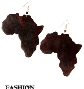 Large Coconut Africa Earrings