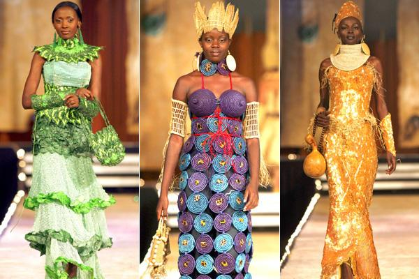 """Scenes from the """"Fashion for Peace"""" show in Nairobi ... frocks by Nigerian designer Bayo Adegbe."""