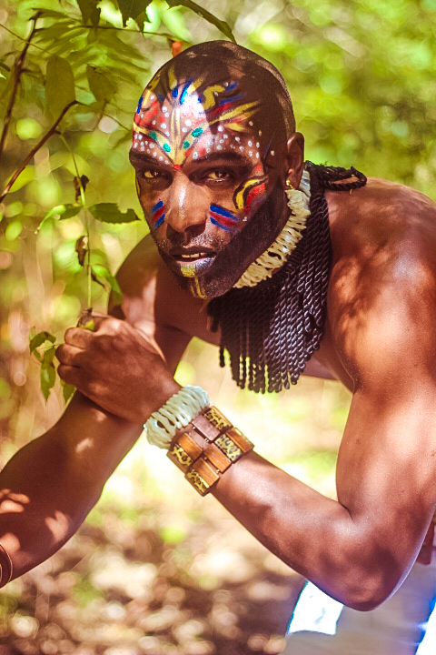 african tribal make up for men african fashion shoot fashionghana (8)