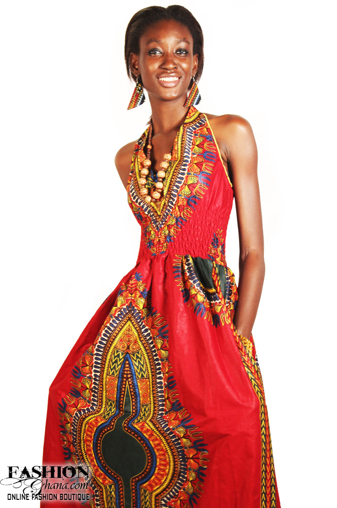 Dashiki / Angelina Print Sleeveless Maxi Dress