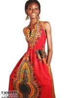 Dashiki / Angelina Print Sleeveless Maxi Dress