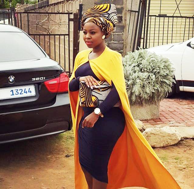 Cloak Dress by Khosi Nkosi