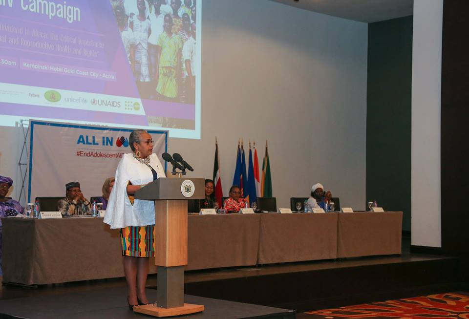 H E Margaret Kenyatta during the launch of the All-In Adolescent Campaign