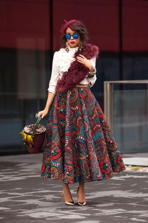 african print maxi skirt (1)