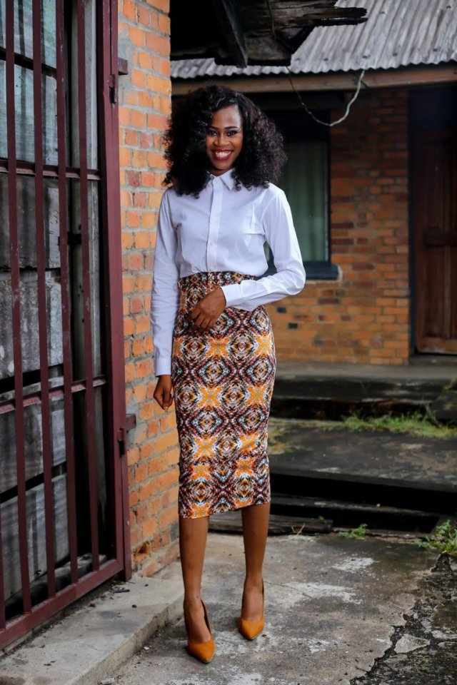 pencil skirt print african fashion (6)