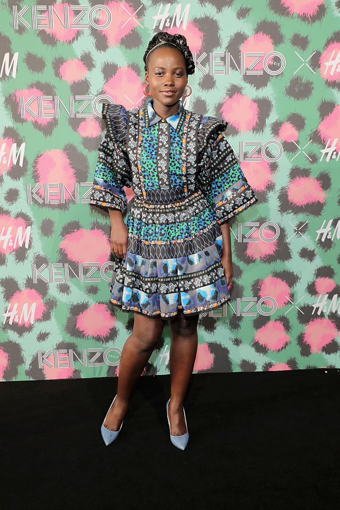 NEW YORK, NY – OCTOBER 19: Lupita Nyong'o attends KENZO x H&M Launch Event Directed By Jean-Paul Goude' at Pier 36 on October 19, 2016 in New York City. (Photo by Neilson Barnard/Getty Images for H&M)