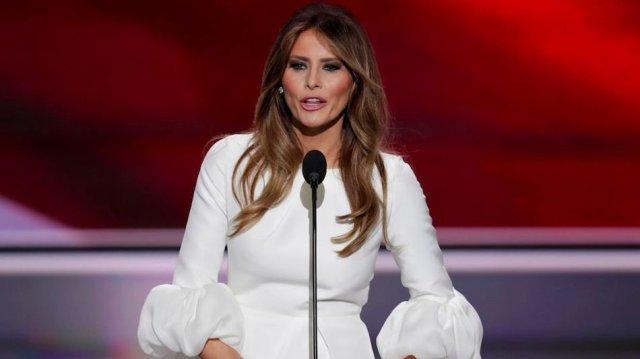 Melania Trump speaking at the Republican convention