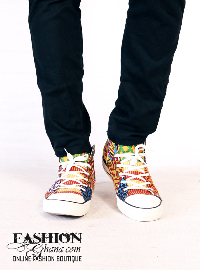 African Print Trainers (Select Any Print)
