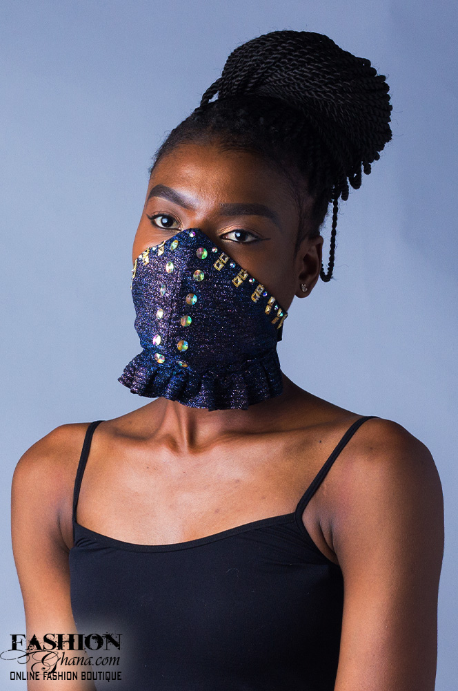 Fd Fashion House Sequin Gathered Hem Nose Mask x 3
