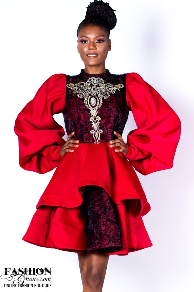 FD Fashion House Bishop Sleeve Double Layered Skirt Dress