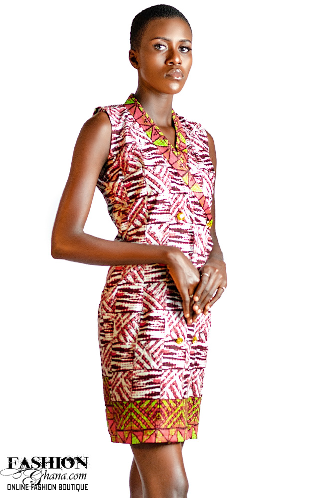 Sleevless African Print Jacket Dress