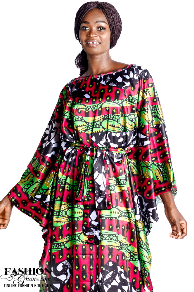 Mikoko Batwing Kaftan Silk Dress