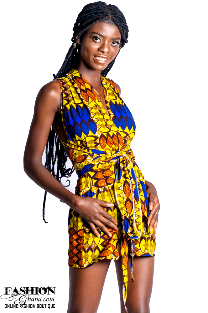 African Print Multi-Way Romper