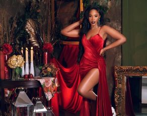 #HOTSHOTS: Nigerian Actress & Influencer Sharon Ooja Schools Us On How Saulty The Little Red Dress Really Is