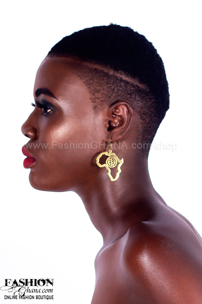 Gold Africa Earrings Set