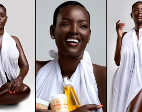#HOTSHOTS: Uganda's Dark Skinned Beauty Bettinah Tianah Unleashes Jaw Dropping Images For Her New Brand BEAUTY UGANDA