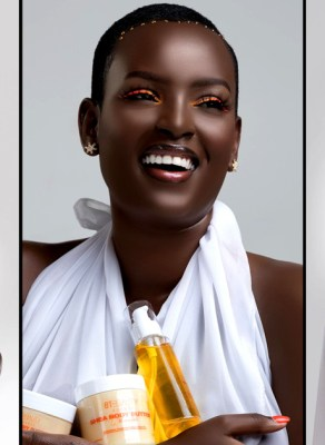 #HOTSHOTS: Uganda's Dark Skinned Beauty Bettinah Tianah Unleashes Jaw Dropping Images For Her New Brand BEAUTY UGANDA