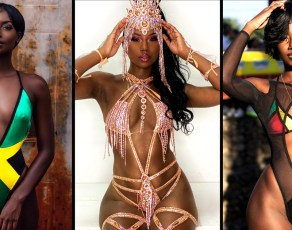 #BIKINIBAE: Buju Banton's Daughter, Abihail Myrie Is Every Inch Of Dark Chocolate Hotness In This Jamaican Flag Swimsuit & More