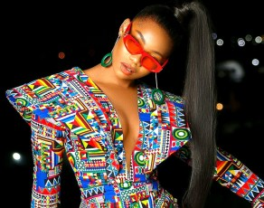 #STYLEGIRL: We Are Here For Symply Tacha's Electric Print Bodycon Dress