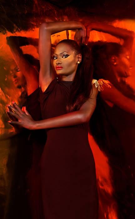 Campaign Shot for Dakar Fashion Week 2013: Model: Aminata Faye: