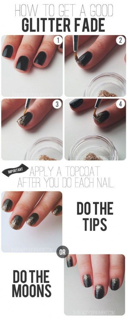 Easy Glitter Nail Art Designs Step By At Home