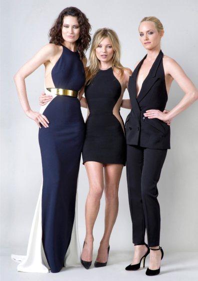 Shalom Harlow, Kate Moss & Amber Valletta