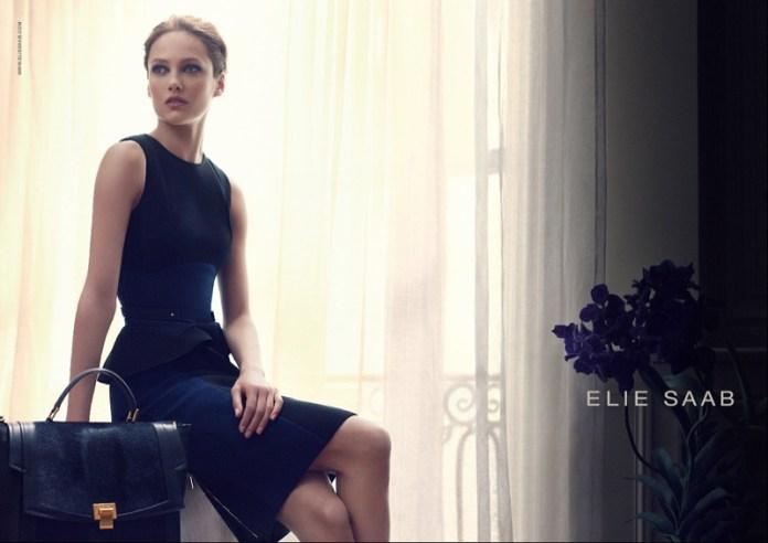 elie saab aw ads3 Karmen Pedaru Stars in Elie Saab Fall 2013 Campaign by Craig McDean
