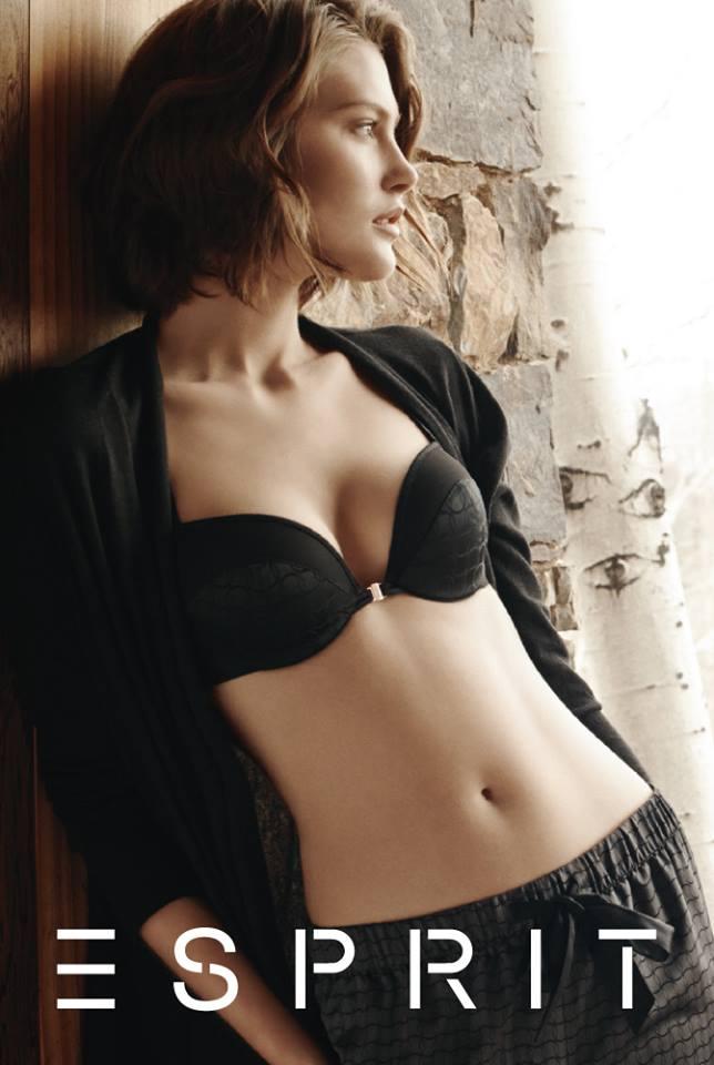 catherine esprit lingerie3 Catherine McNeil Fronts Esprits Fall 2013 Lingerie Campaign