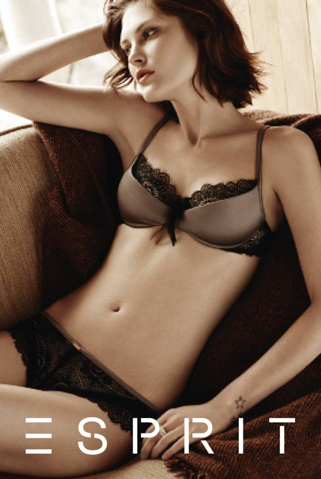 catherine esprit lingerie4 Catherine McNeil Fronts Esprits Fall 2013 Lingerie Campaign