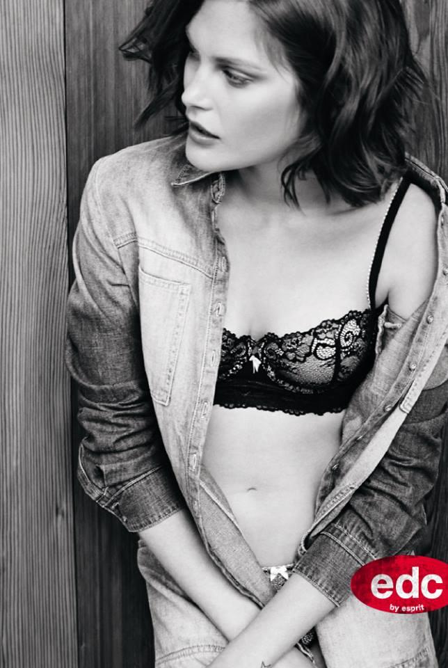 catherine esprit lingerie7 Catherine McNeil Fronts Esprits Fall 2013 Lingerie Campaign