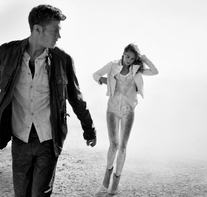 true religion fall3 Karmen Pedaru Hits the Desert for True Reilgions Fall 2013 Ads
