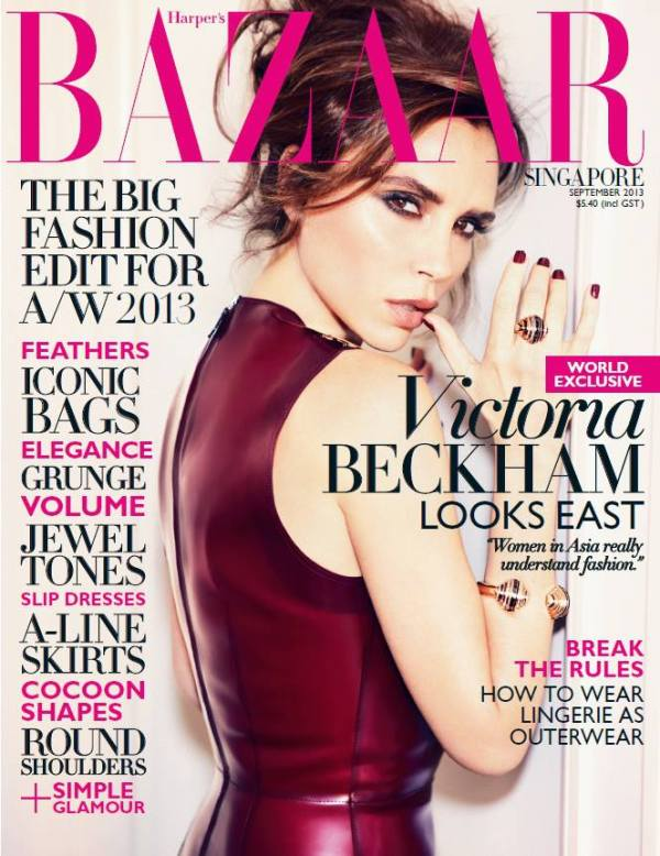Victoria Beckham On Harper's Bazaar Singapore's September ...