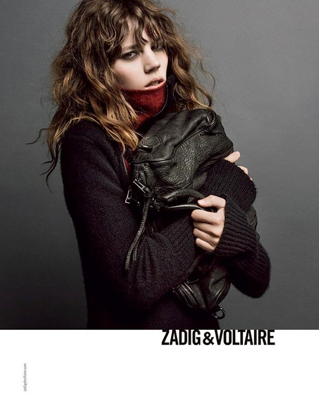 zadig voltaire fw ads1 Freja Beha Erichsen Stars in Zadig & Voltaire Fall 2013 Ads