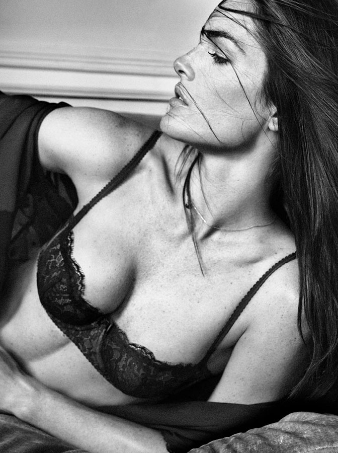 oysho lingerie hilary rhoda9 Hilary Rhoda Seduces for Oyshos Fall 2013 Lingerie Ads