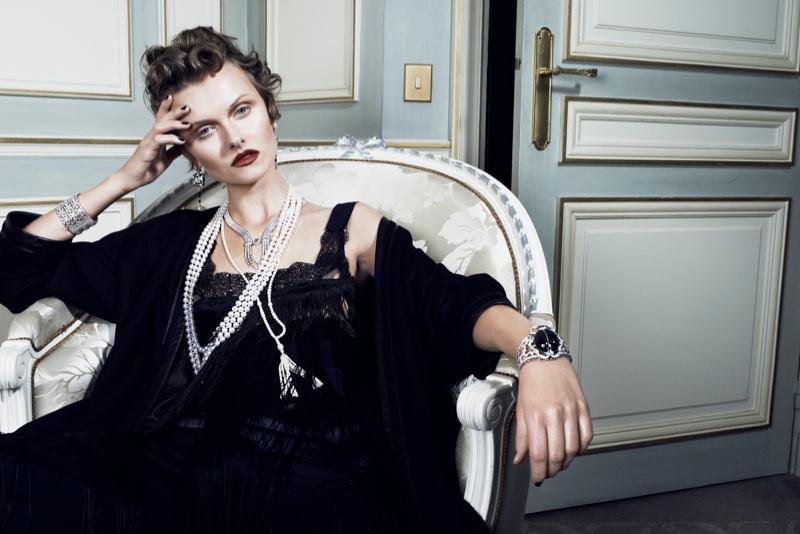 Kamila Filipcikova1 Kamila Filipcikova Models High Jewelry for Alexx and Anton in Gala