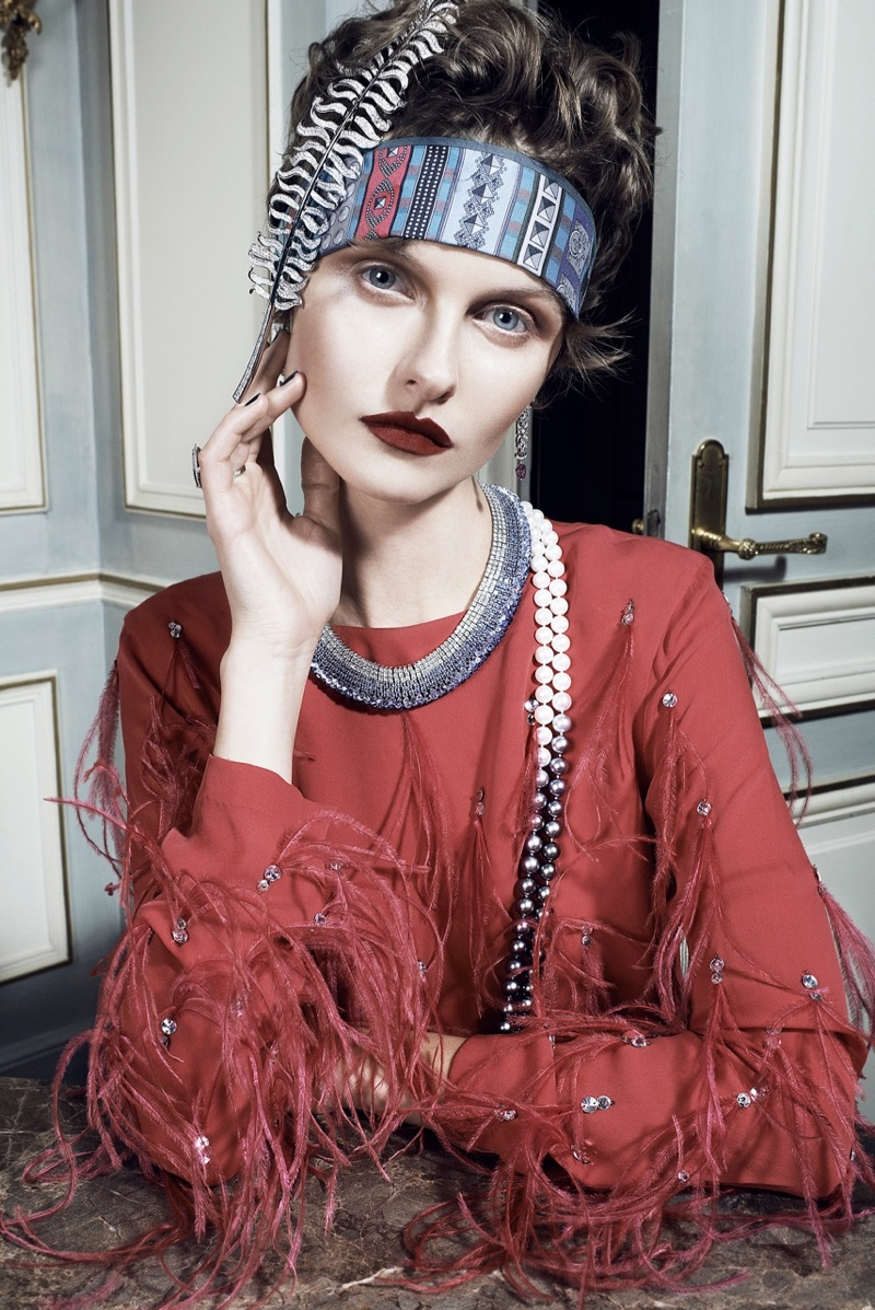 Kamila Filipcikova4 Kamila Filipcikova Models High Jewelry for Alexx and Anton in Gala