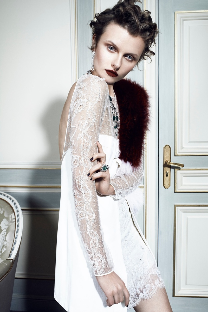 Kamila Filipcikova6 Kamila Filipcikova Models High Jewelry for Alexx and Anton in Gala