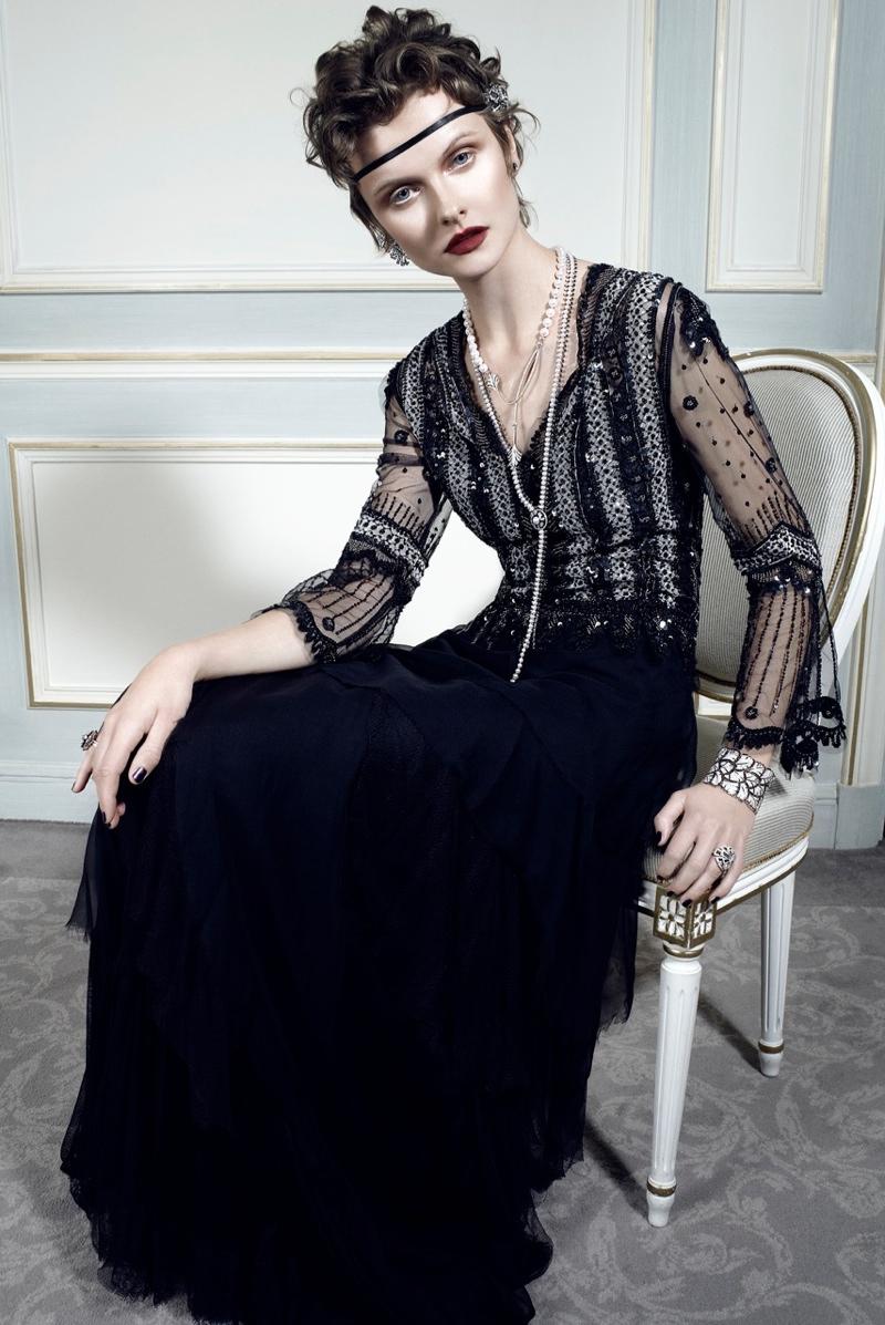 Kamila Filipcikova9 Kamila Filipcikova Models High Jewelry for Alexx and Anton in Gala