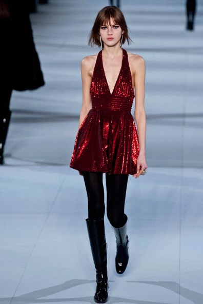 A look from Saint Laurent's fall 2014 show