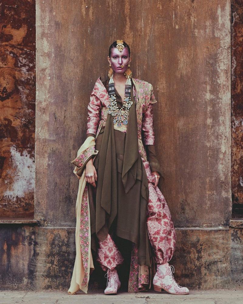 kate kung foto shoot10 Kate Kung modeller Sari stil för hur man spendera den av Andrew Yee