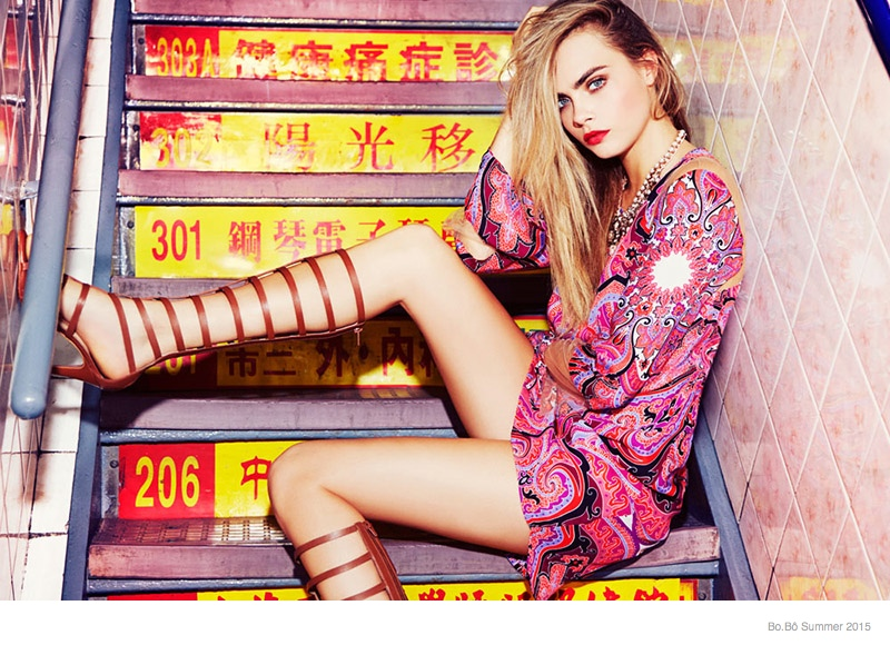 cara delevingne bobo summer 2015 ad campaign04 Cara Delevingne is Back for the Bo.Bô Summer 2015 Advertisements