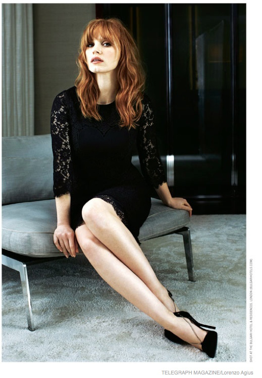 Jessica Chastain Is Red Hot In Moody Photo Shoot For
